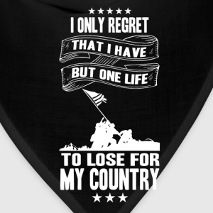 My country-I only have a life to lose for country - Bandana