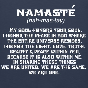 Namaste-My soul honors your soul Tee shirt - Men's Premium Tank