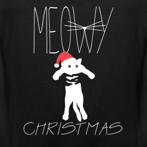 Meowy christmas - perfect gift for cats lover - Men's Premium Tank