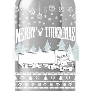 Trucker-Merry truckmas awesome sweater - Water Bottle