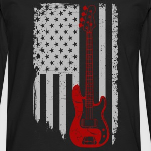 Bass guitar - American Bass guitar lover - Men's Premium Long Sleeve T-Shirt