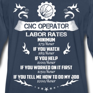 CNC operator-If you tell me how to do my job - Men's Premium Long Sleeve T-Shirt
