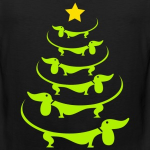 Doxie-Doxie christmas tree awesome sweater - Men's Premium Tank