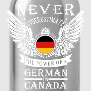 German-THe power of an German in canada - Water Bottle