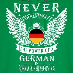 German-THe power of an German in Bosnia - Men's Hoodie