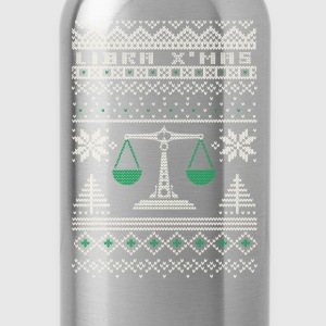 Libra-Libra awesome christmas sweater - Water Bottle
