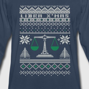 Libra-Libra awesome christmas sweater - Men's Premium Long Sleeve T-Shirt