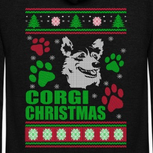 Corgi-Corgi Christmas sweater for Corgi lovers - Unisex Fleece Zip Hoodie by American Apparel