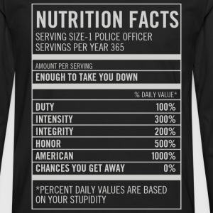 Nutrition facts-Based on your stupidity t-shirt - Men's Premium Long Sleeve T-Shirt