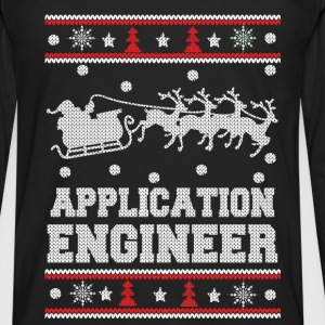 Application engineer-Engineer Christmas sweater - Men's Premium Long Sleeve T-Shirt