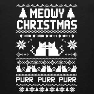 Meowy-christmas sweater for cats lovers - Men's Premium Tank