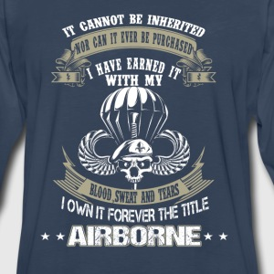 Airborne-I've earned it with my blood and tears - Men's Premium Long Sleeve T-Shirt