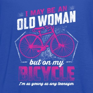 Bicycle - i may be an old woman, but on my bicycle - Women's Flowy Tank Top by Bella