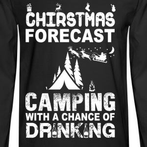 Camping-Christmas forecase awesome sweater - Men's Long Sleeve T-Shirt