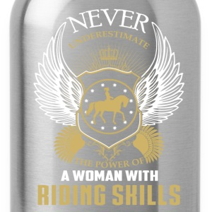 Horse riding skills-The power of a woman with it - Water Bottle