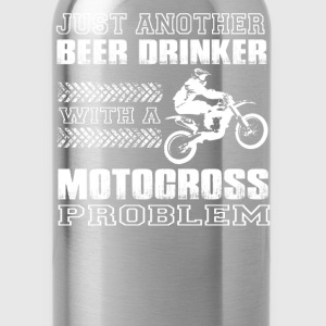 Motocross-Just another beer drinker with motocross - Water Bottle