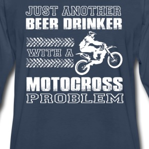 Motocross-Just another beer drinker with motocross - Men's Premium Long Sleeve T-Shirt