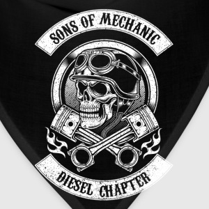 Sons of mechanic-Diesel chapter awesome t-shirt - Bandana