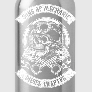 Sons of mechanic-Diesel chapter awesome t-shirt - Water Bottle