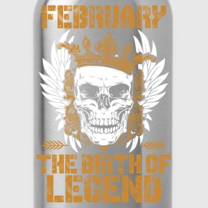 Born in February - The birth of legend - Water Bottle