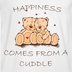 Happiness Comes From a Cuddle Women's T-Shirts - Men's Long Sleeve T-Shirt