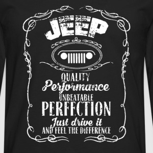 Jeep - Just drive it and feel the difference - Men's Premium Long Sleeve T-Shirt