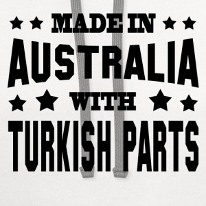 MADE IN AUSTRALIA WITH TURKISH PARTS - Contrast Hoodie