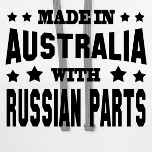 MADE IN AUSTRALIAN WITH RUSSIAN PARTS - Contrast Hoodie