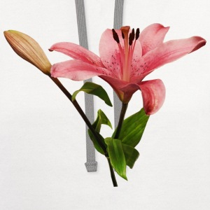 Pink Lily With Bud Women's T-Shirts - Contrast Hoodie