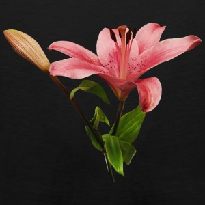 Pink Lily With Bud Bags & backpacks - Men's Premium Tank