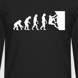 Rock Climbing Evolution T-Shirt T-Shirts - Men's Premium Long Sleeve T-Shirt