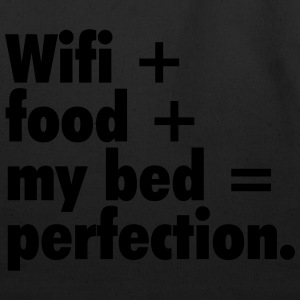 Wifi + food + my bed Women's T-Shirts - Eco-Friendly Cotton Tote