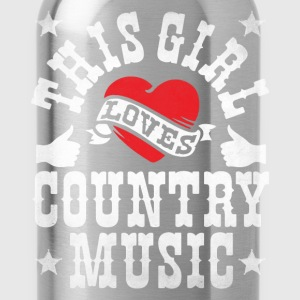 THIS GIRL LOVES COUNTRY MUSIC - Water Bottle