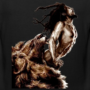 man and lion - Men's Premium Tank