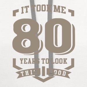 It Took Me 80 Years - Contrast Hoodie