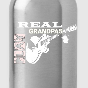 Real Grandpas Play Guiar T-Shirts - Water Bottle