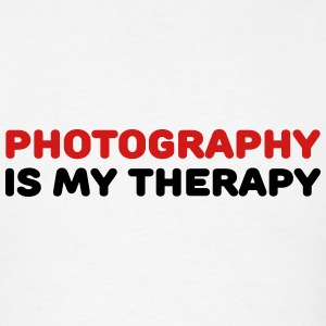 Photography is my therapy Tanks - Men's T-Shirt