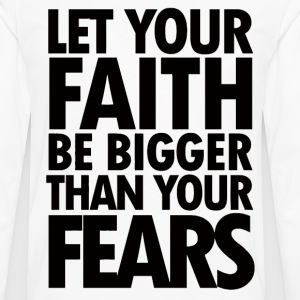 Great motivational quote about faith - Men's Premium Long Sleeve T-Shirt