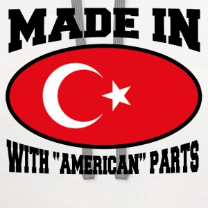 MADE IN TURKEY  WITH AMERICAN PARTS - Contrast Hoodie