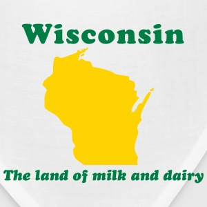 Wisconsin The land of milk and dairy T-Shirts - Bandana