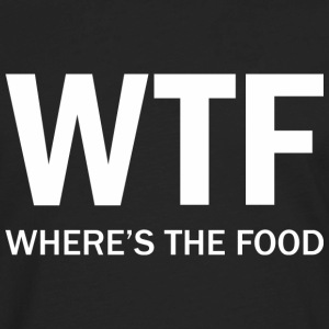 WTF - Where's The Food - Men's Premium Long Sleeve T-Shirt