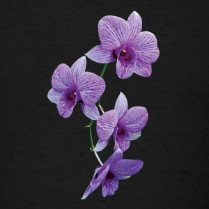 Cascade of Purple Orchids Caps - Men's T-Shirt