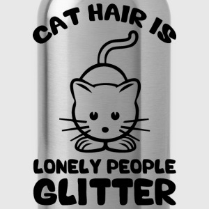 Cat Hair Is Lonely People Glitter Women's T-Shirts - Water Bottle