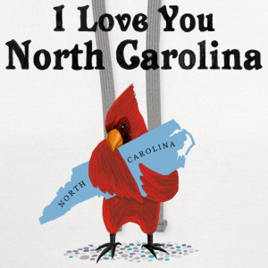 I Love You North Carolina - Contrast Hoodie