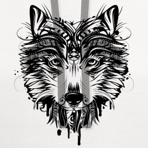Wolf head Other - Contrast Hoodie
