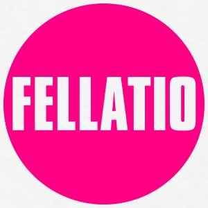 Fellatio_button - Men's T-Shirt