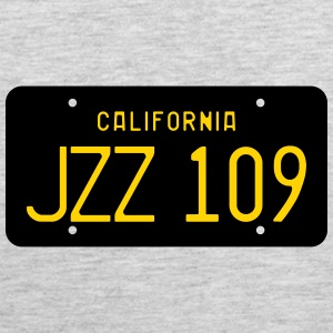 Retro 1963 California JZZ 109 License Plate Women' - Men's Premium Tank
