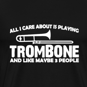 Playing Trombone Shirt - Men's Premium T-Shirt