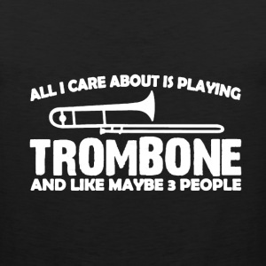 Playing Trombone Shirt - Men's Premium Tank