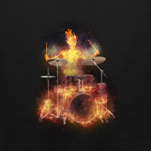 Flaming Skeleton Drumer S Bags & backpacks - Men's Premium Tank